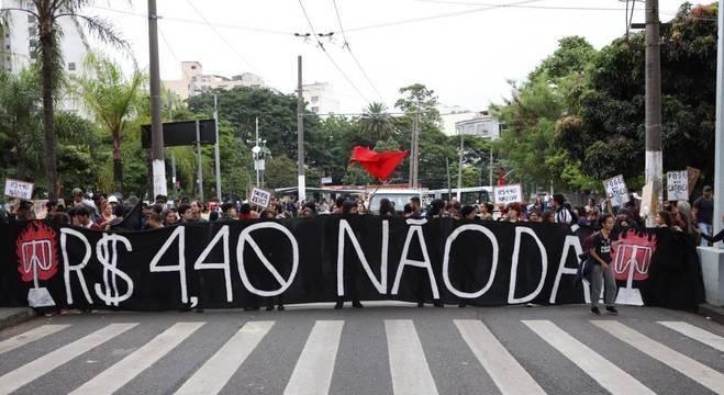 Grupo encerrou ato em frente à sede da Secretaria de Segurança Pública de SP