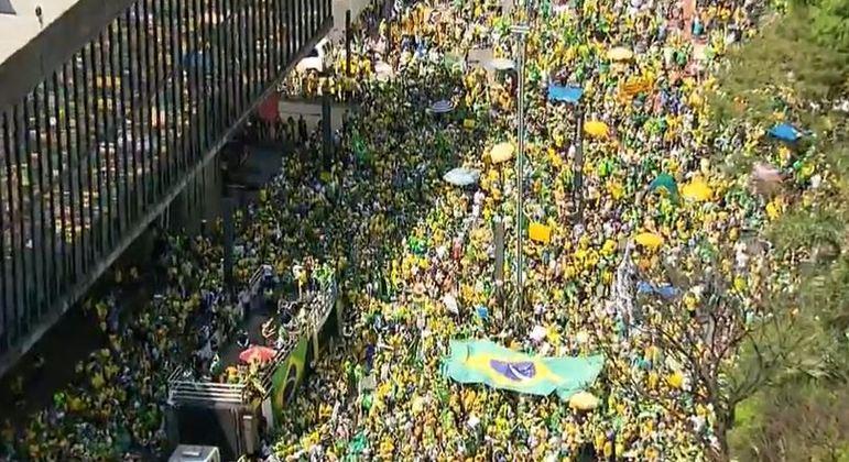 Bolsonaro chega à avenida Paulista para discursar no 7 de setembro - Notícias - R7 São Paulo