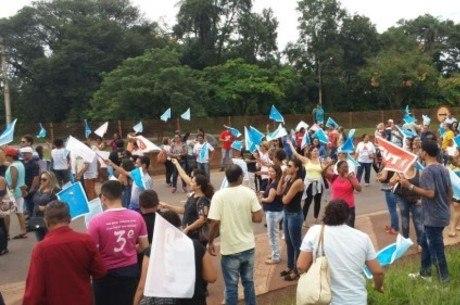 Manifestantes seguiram para a cidade