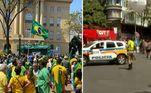 Atos a favor e contra o presidente Jair Bolsonaro (sem partido) ocorrem desde a manhã desta terça-feira (7) em Belo Horizonte em dois pontos distintos: na praça da Liberdade e na praça Afonso Arinos.