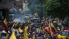 Colombianos protestam contra reforma tributária pelo quarto dia