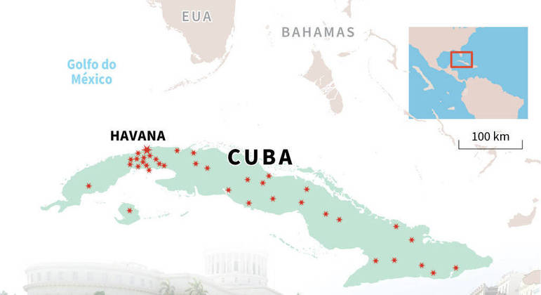 Protestos em Cuba no dia 11 de julho aconteceram em mais de 30 cidades