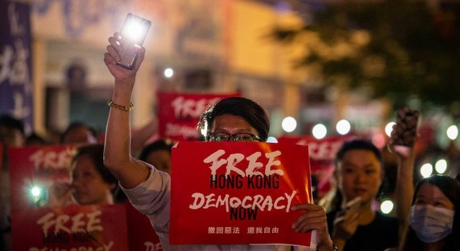 Em 2019, manifestantes voltaram às ruas de Hong Kong para protestar contra a interferência chinesa