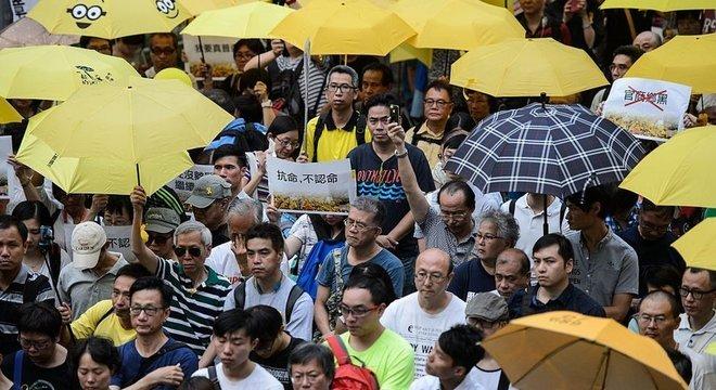 Em 2014, Hong Kong assistiu à Revolução dos Guarda-Chuvas