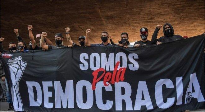 Manifestantes protestaram contra o presidente em São Paulo