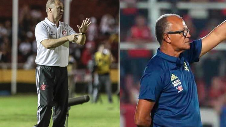 Mano Menezes/Jayme de Almeida - Flamengo 2013: naquela temporada, o Flamengo começou a Copa do Brasil com Mano Menezes, que ficou somente três meses no cargo antes de pedir demissão. Com isso, Jayme de Almeida assumiu como interino e foi campeão da Copa do Brasil