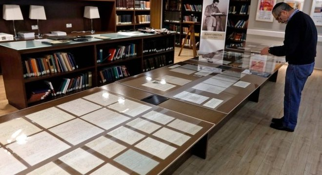 A coleção agora faz parte do arquivo de mais de 80 mil itens públicos do arquivo de Albert Einstein