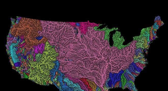 Mapa dos EUA é um dos favoritos de artista-cartógrafo, por 'ter sido um dos primeiros'