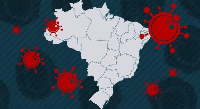 Mapa Brasil covid-19
