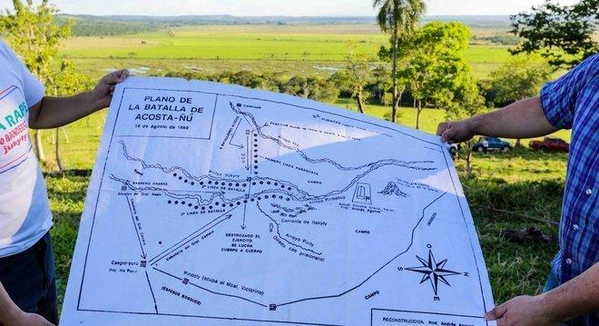 A batalha de Acosta Ñu aconteceu há 150 anos em local próximo ao que hoje é a cidade de Eusebio Ayala, no centro do Paraguai