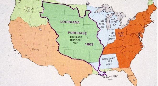 A compra de Louisiana permitiu aos EUA duplicar se território e abriu portas para a expansão a oeste