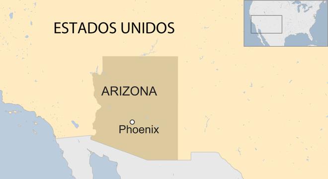 Localização de Phoenix no mapa americano
