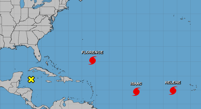 Dois outros furacões também estão se movendo através do Atlântico: o Helene e o Isaac