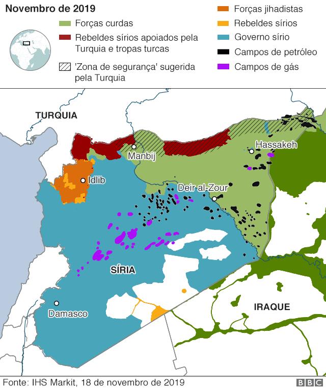 Mapa mostra divisão da Turquia