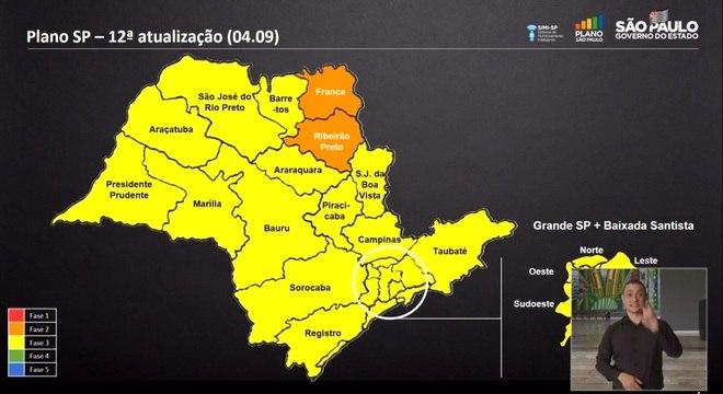 Cinco regiões progridem para fase amarela do Plano São Paulo