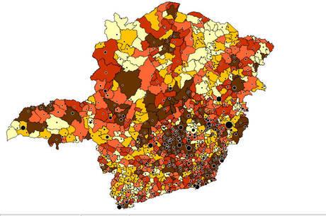 Covid-19 chegou a 80% dos municípios de MG