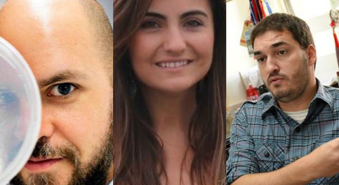 Da esquerda para a direita, os pesquisadores Pedro Moraes-Vieira, Mariana Boroni e Marcelo Mori