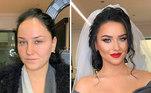 As noivas mudam de feição com as maquiagens