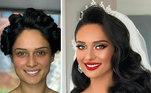 As noivas, que já estão radiantes, ficam ainda mais felizes