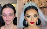 O maquiador e influenciador de beleza Arber Bytyqi é um mago das noivasVestido branco faz convidados confundirem mãe e noiva