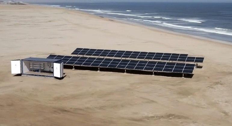 Duzentos contêineres com equipamento de dessalinização (foto) serão enviados ao Quênia