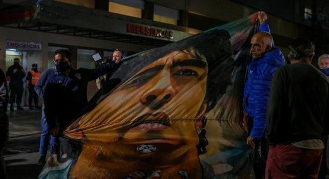 Romaria por Maradona, no centro de Buenos Aires
