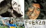 """Aos60 anos, 'Diego' queria ver o lado positivo. """"Alguns contam as vezesque você caiu. Outros, as vezes que você se levantou """", escreveu em seu relatonas redes sociais um homem que os argentinos consideram seu """"deus"""", com defeitos e virtudes"""