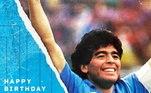 Equipe em que Maradona brilhou, a Napoli também lembrou do craque argentino:
