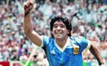 Diego Maradona, craque da Copa de 1986, que morreu no dia 25 de novembro desse ano