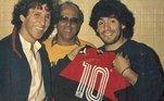 O Flamengo também lembrou de Maradona: