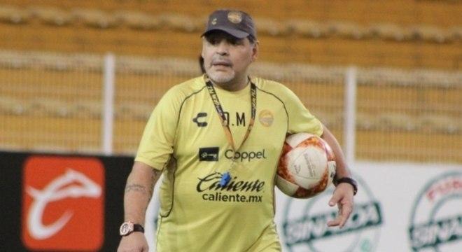 Diego Maradona assinou com o Dorados-MEX no último mês de setembro