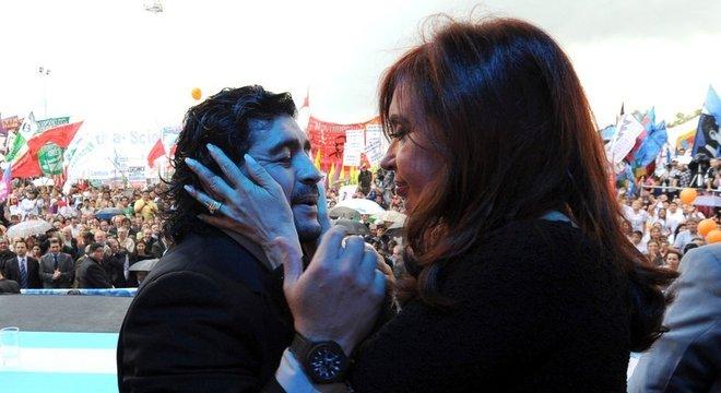 Maradona apoiava Cristina Kirchner