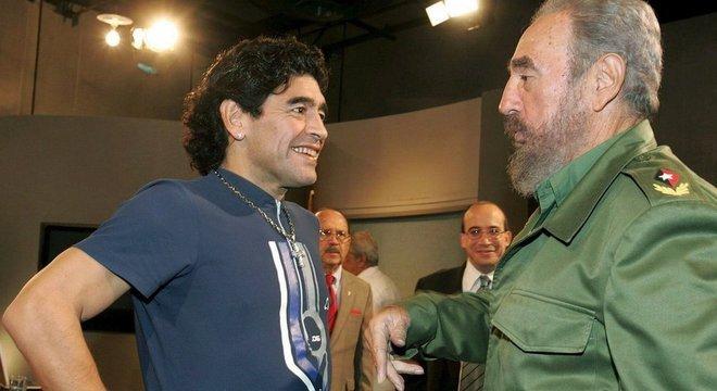 Maradona foi amigo e apoiador do líder cubano Fidel Castro até a morte