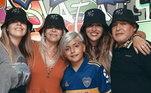 Maradona tinha cinco filhos e quatro netos. Do casamento com o Claudia Villa, nasceram Dalma e Giannina e o neto Benajmin Aguero
