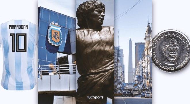 Algumas opções foram escolhidas pelo site para homenagear Maradona