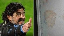 Maradona é visto em mancha de umidade, mas pode ser Trump