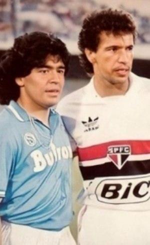 Maradona ao lado de Careca