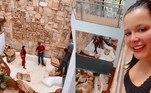 Maraisa, dupla de Maiara, mandou construir um lago na área externa de sua mansão, localizada em Goiânia. No último final de semana, ela mostrou nas redes sociais os funcionários trabalhando na obra.