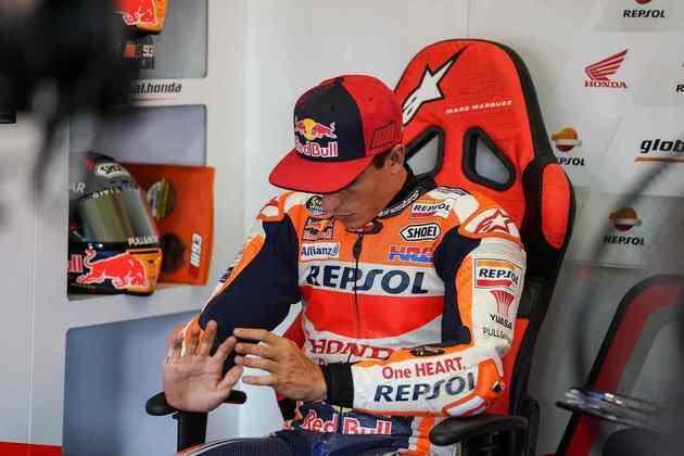 Marc Márquez chegou lesionado em Jerez