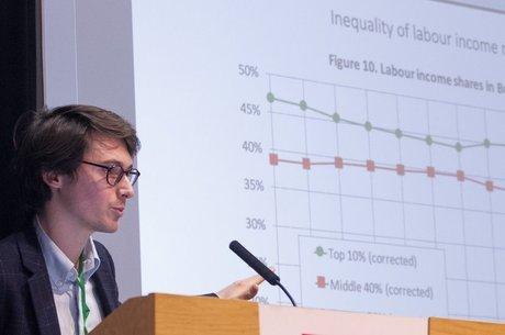 """O economista irlandês Marc Morgan faz parte da equipe de Thomas Piketty e afirma que desigualdade de renda é """"escolha política"""""""