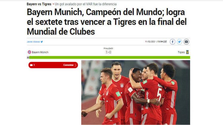 Marca - O jornal espanhol destacou o sexteto conquistado pelo Bayern de Munique ao bater o Tigres.
