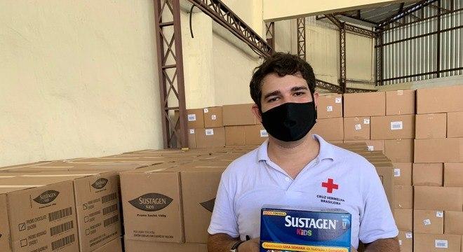 Mais de 480 mil produtos foram doados para Cruz Vermelha