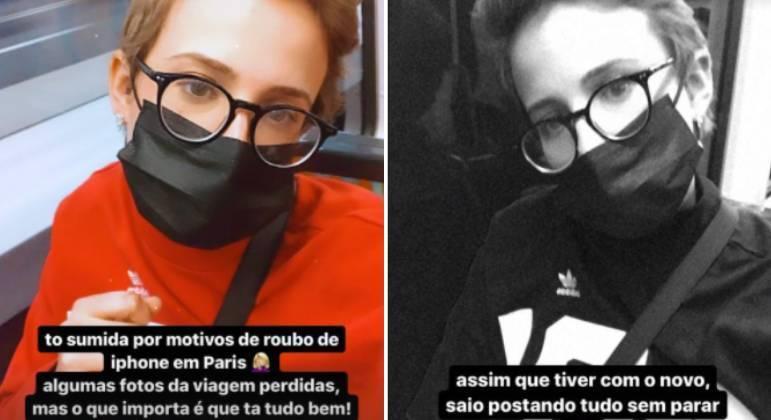 Marcella Rica é assaltada em Paris e tem celular roubado