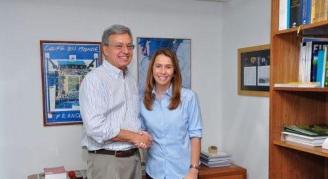 Campos Pinto e Patrícia Amorim. Globo e Flamengo sempre aliados
