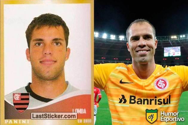 Marcelo Lomba jogou pelo Flamengo em 2010. Inicia o Brasileirão 2021 com 34 anos e jogando pelo Internacional.