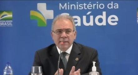 Marcelo Queiroga participou de entrevista na OMS