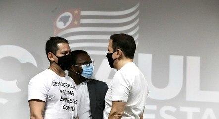 Na imagem, Marcelo Ramos e João Doria