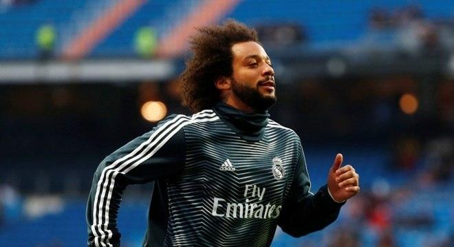 O lateral-esquerdo Marcelo, único brasileiro na seleção da temporada da Europa