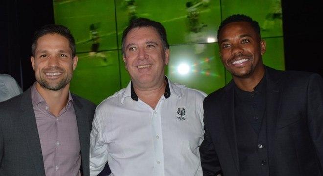 Robinho foi revelado quando Marcelo Teixeira era presidente do Santos