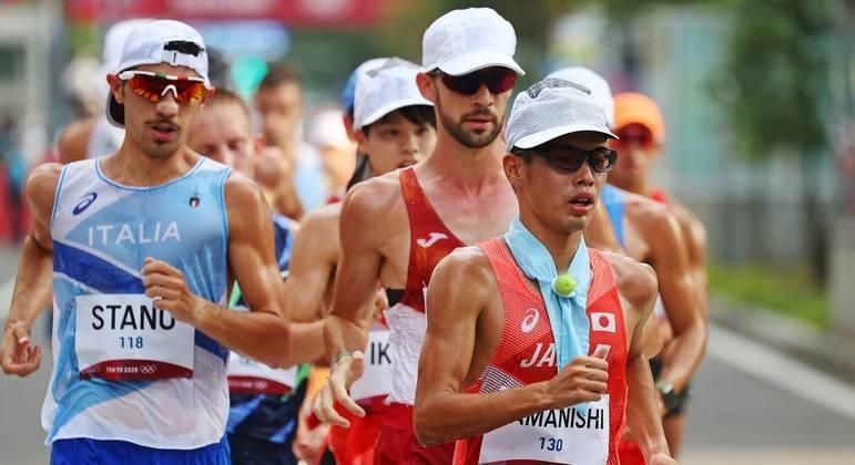 Massimo Stano conquistou o ouro na marcha atlética de 20 km
